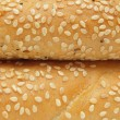 Stock Photo: Closeup of two bagels with sesame seeds