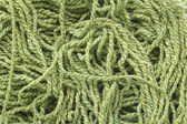 Green woolen yarn — Stock Photo