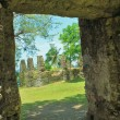 Stock Photo: A ruins of an old church
