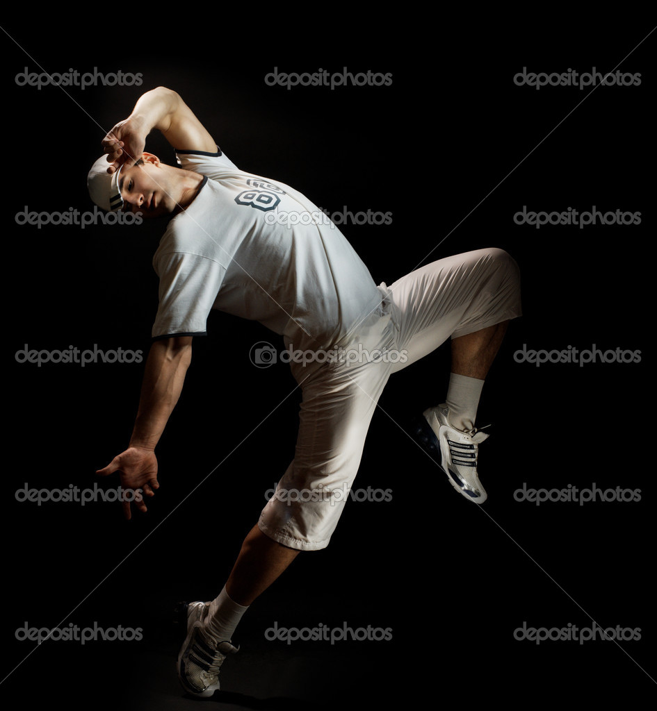 A young nice man dancing modern dances — Stock Photo #2819544