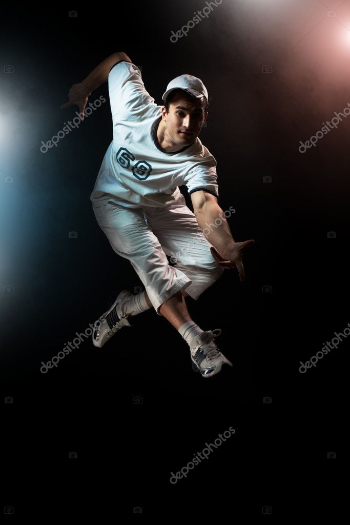 A young nice man dancing modern dances — Stock Photo #2819546
