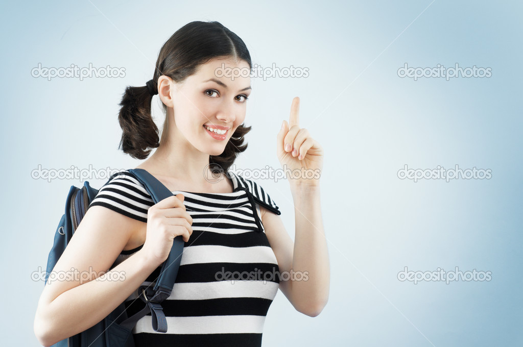 A young and happy female college student — Stock Photo #2819551