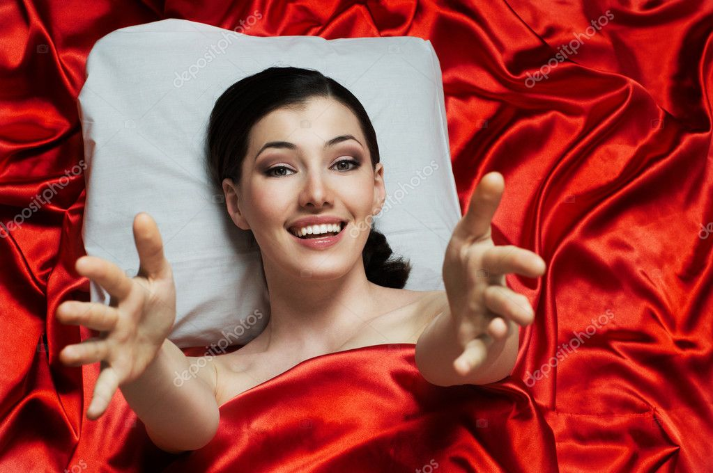 Beauty girl in bed, just wake up  Stock Photo #2819565