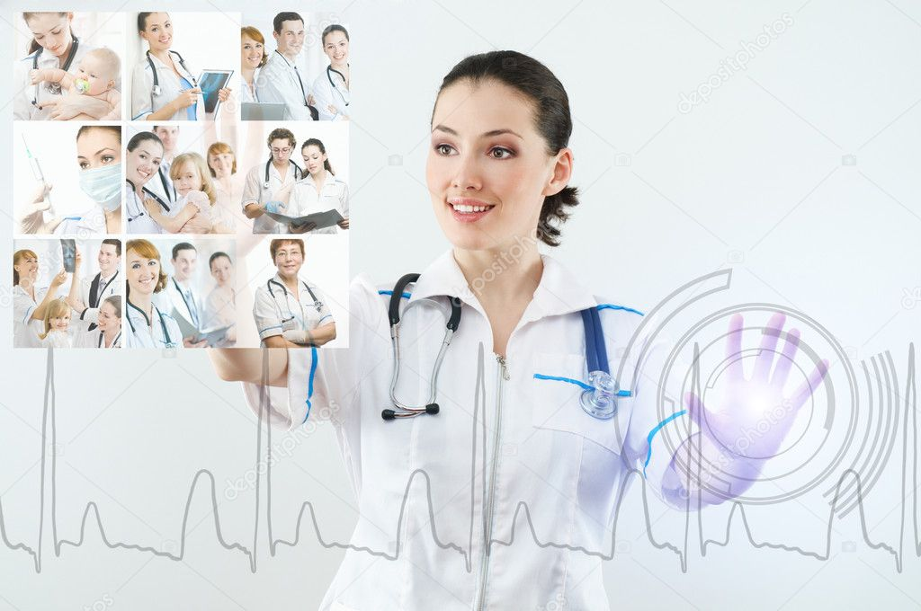 Successful person making use of innovative technologies — Stock Photo #2883754