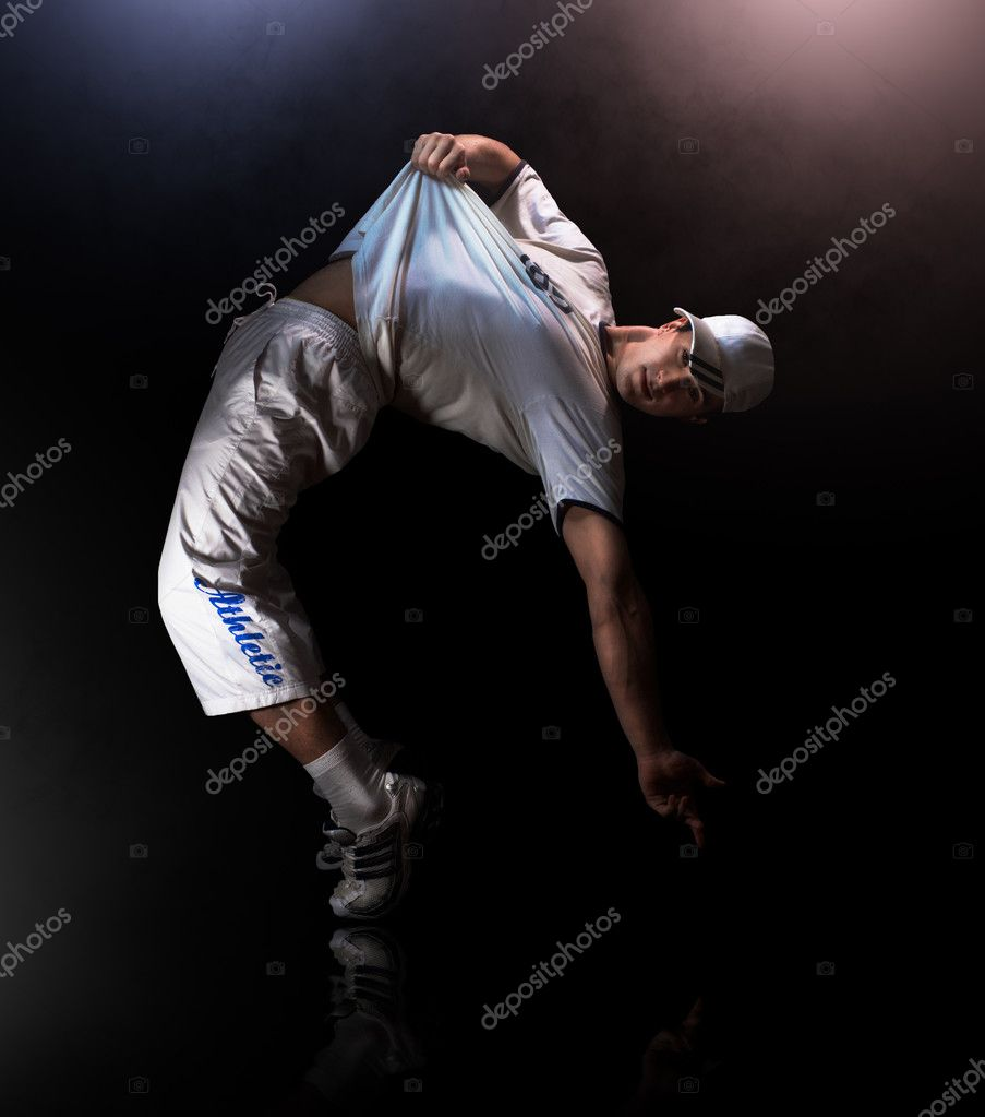 A young nice man dancing modern dances — Stock Photo #2932779
