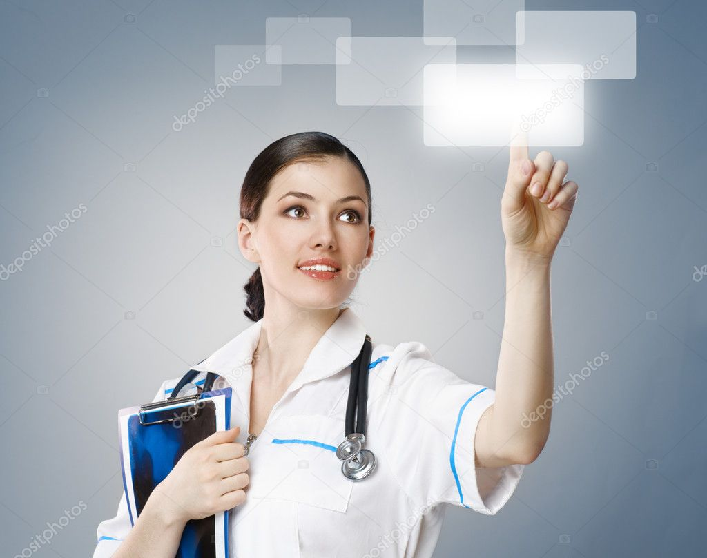 Successful person making use of innovative technologies — Stock Photo #3079053