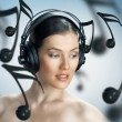 Girl with headphones — Stock Photo #3396854