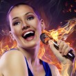 Stock Photo: Singing girl
