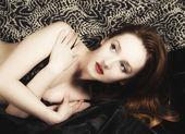 Pinup ragazza ritratto della giovane ragazza foxy — Foto Stock