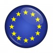 Icon with flag of EU isolated — Stock Photo #3316211