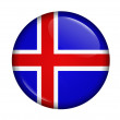 Icon with flag of Iceland — Stock Photo