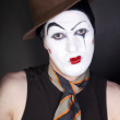 Mime on black background — Stock Photo #3325609