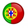 Icon with flag of Portugal isolated - Stock Photo