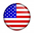 Icon with flag of USA isolated — Stock Photo