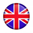 Icon with flag of UK isolated — Stock Photo