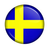 Cicon with flag of Sweden isolated — Stock Photo