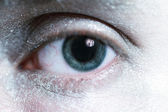 Ojo macho azul hermoso — Foto de Stock