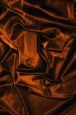 Textura de seda raso marrón chocolate paño cerrar — Foto de Stock