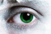 Man green eye with bright make-up — Stock Photo