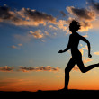 Woman running — Stock Photo #3688300