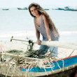 Fisherwoman - Stock Photo