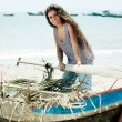 Stock Photo: Fisherwoman