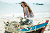 Fisherwoman — Stock Photo