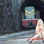 Train tracks — Stock Photo