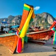 Stock Photo: Boats at Phi phi island