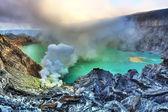Kratern ijen — Stockfoto