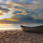 Beach panorama — Stock Photo