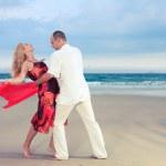 Dance at the beach — Stock Photo