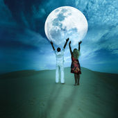 Touching the Moon — Stock Photo