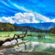 Telaga Warna lake - Foto de Stock