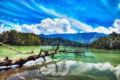 Telaga warna jezero — Stock fotografie