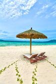 Sandy tropical beach — Stock Photo