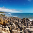 Punakaiki Pancake Rocks, New Zealand - Stock Photo