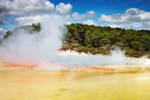 Hot thermal spring, New Zealand — Stock Photo