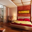 Modern style bedroom interior 3d — Stock Photo #2719081