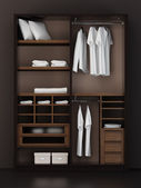 Inside the modern closet 3d rendering — Stock Photo