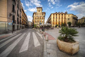 Old square in the Madrid city, Spain — Stock Photo