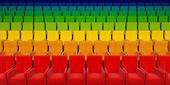 El auditorio con asientos motley — Foto de Stock