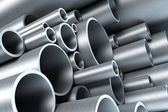 Stack of steel tubing — Foto Stock