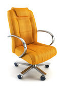 Armchair for boss 3d rendering — Stock Photo