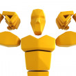 Stock Photo: 3d symbolic athlete