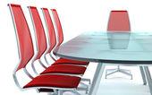 Boardroom masa ve sandalyeler — Stok fotoğraf