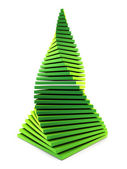 3d symbolic New Year's fir tree — Stock Photo