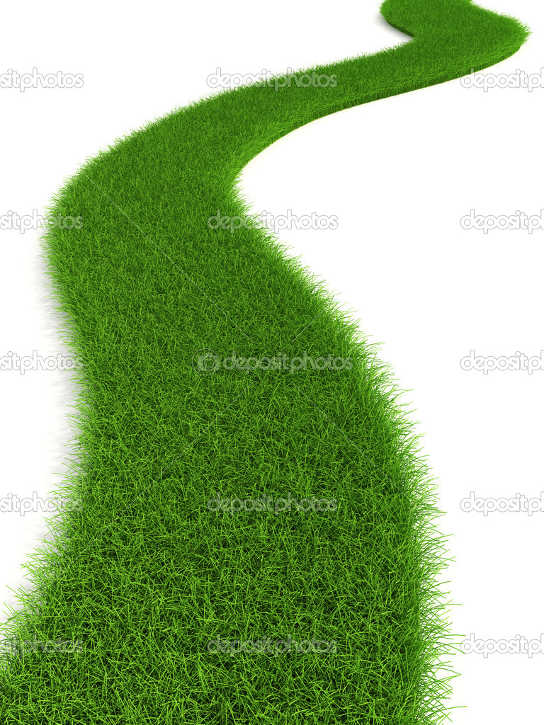 3d grassy road isolated — Photo #3231674