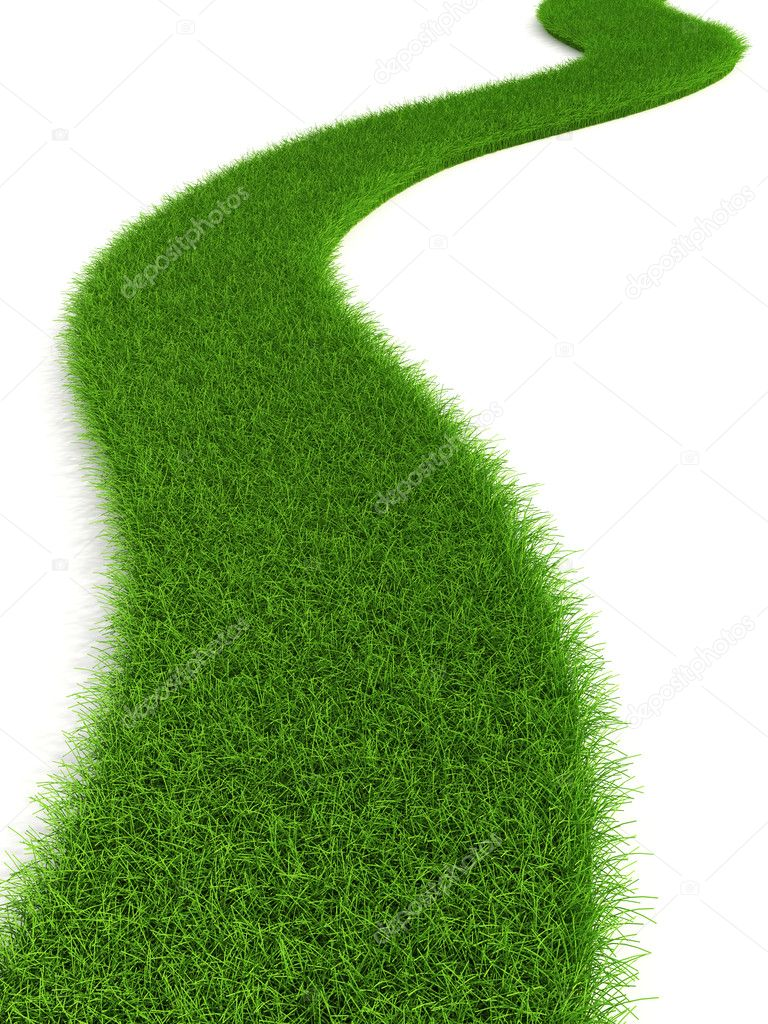 3d grassy road isolated — Stock Photo #3231674