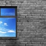 Illuminated window — Stock Photo